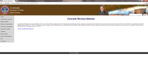 Colorado Secretary of State's website notes the statute asserting a state copyright over the Colorado Revised Statutes